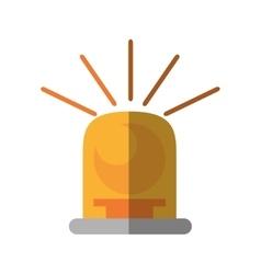 siren light yellow isolated icon vector image