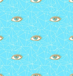 Sketch triangles and eye in vintage style vector