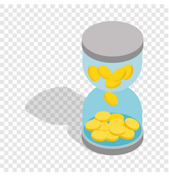 Time is money isometric icon vector