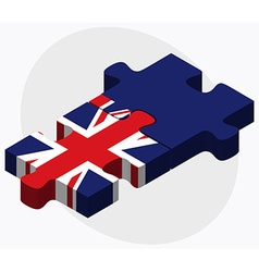 United Kingdom and Cayman Islands vector image