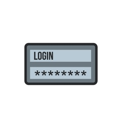 Username and password icon flat style vector image