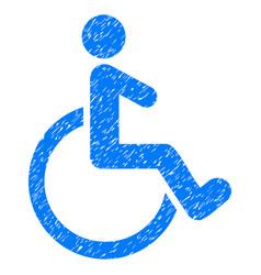 Wheelchair grunge icon vector