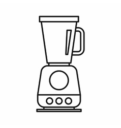 Food processor mixer blender icon outline style vector