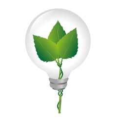 Bulb with ecology symbol vector