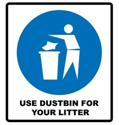 Trash bin icon great for any use EPS10 vector image