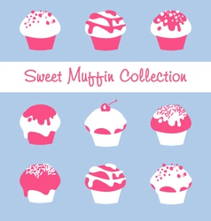 Sweet Muffin Collection vector image