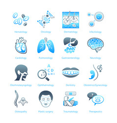 hospital icons - marine series vector image