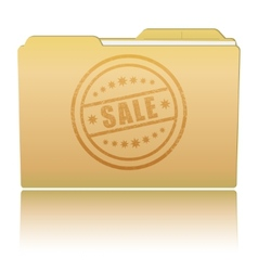 Folder with sale damaged stamp vector