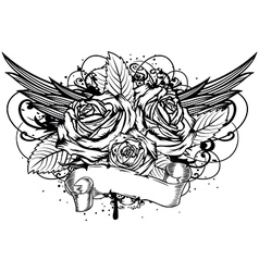 Roses wings vector