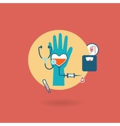 Criteria of health weight pressure pulse donor vector
