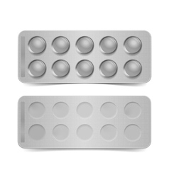 Blank pack for pills isolated on white vector