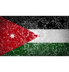 Flags jordan with broken glass texture vector