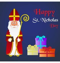 Colorful saint nicholas character holiday eps10 vector
