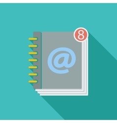Contact book single icon vector image