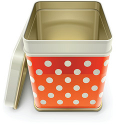 Tin box with lid vector