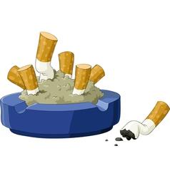 ashtray vector image