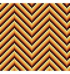Seamless 60s retro zigzag pattern warm vector
