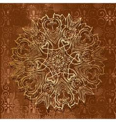abstract arabeska retro vector image vector image