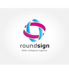 Abstract colored circles logo icon concept vector image vector image