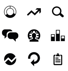 Analytics 9 icons set vector