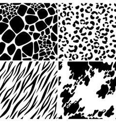 animal skin seamless patterns vector image vector image