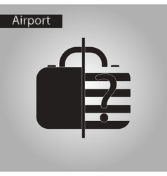 Black and white style icon x-ray baggage vector