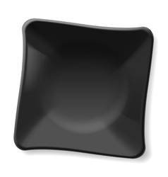 Black plate vector image vector image