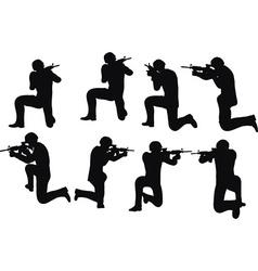 Businessman soldier shoot vector