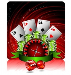 casino illustration vector image vector image