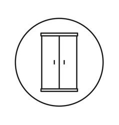 Closet line vector