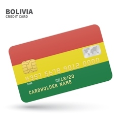 Credit card with bolivia flag background for bank vector