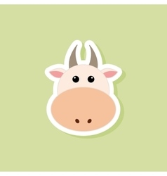 Cute cow face vector