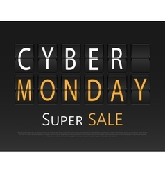 Cyber monday mechanical panel letters vector image vector image