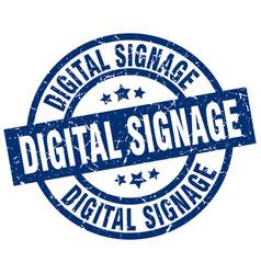 digital signage blue round grunge stamp vector image vector image