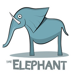 Elephant cartoon - on white background vector