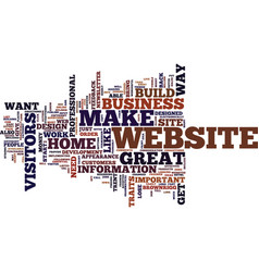 Essential traits of a home business website text vector