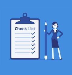 Giant check list vector