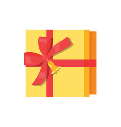 gift box present wrapped package icon top vector image vector image