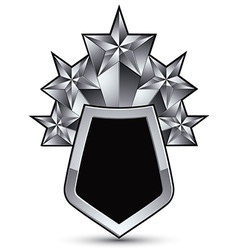 Heraldic 3d glossy icon for use in web and graphic vector