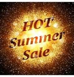 Hot summer sale banner abstract explosion vector