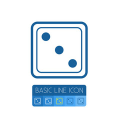 isolated die outline dice element can be vector image vector image