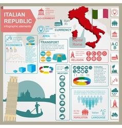 Italian Republic infographics statistical data vector image