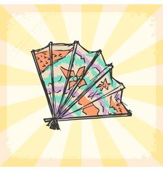 Japanese fan vector image