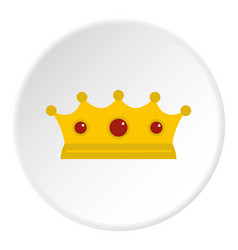 Jewelry crown icon circle vector
