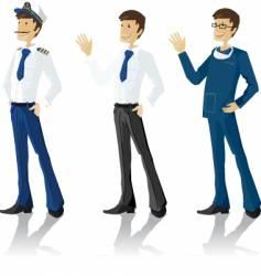 men in uniform vector image vector image