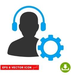 Operator configuration gear eps icon vector