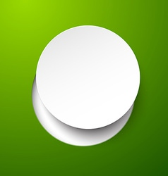 Paper white circle vector image