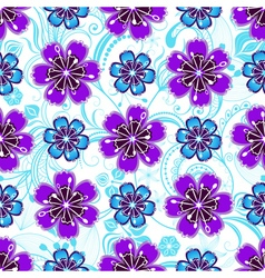 Seamless white floral pattern vector