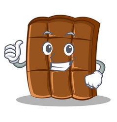 thumbs up chocolate character cartoon style vector image