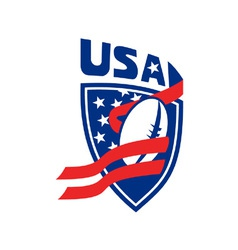 usa rugby shield vector image
